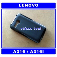 #1144 Silikon Lenovo A316 A316i Soft Jelly Doft Cover Case Hitam