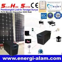 Solar Home System / Genset Panel Surya Tanpa BBM / PLTS Mandiri 3000W
