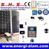 Solar Home System / Genset Panel Surya Tanpa BBM / PLTS Mandiri 1000W