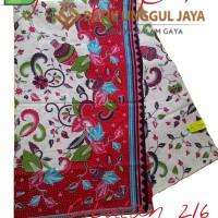 Harga kain batik pekalongan primisima halus cibulan 216 merah unggul | Hargalu.com