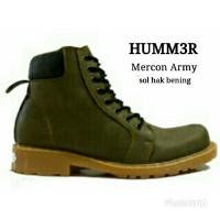 SEPATU PRIA BOOTS HUMMER MERCON ARMY MADE INDONESIA BUATAN ANAK BANGSA
