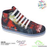 Sepatu Hi-Cut Sneakers Anak Karakter Marvel Spiderman CBB 005