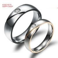 cincin pasangan tunangan silver permata model belah rotan free ukir