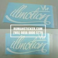 Sticker / Stiker Cutting Mobil JDM Sticker ILLMOTION