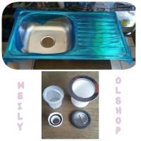 harga Bak Cuci Piring Stainless + Apur / Kran cuci Piring/Kitchen Sink Tokopedia.com