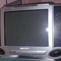 Multimax 14FA46 TV CRT Tabung 14 inch Layar Cembung Semi Flat