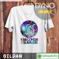 Kaos 5SOS Logo Galaxy 5 Seconds of Summer Band T Shirt