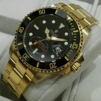 Jam Tangan Pria Mewah -Jam Tangan ROLEX SUBMARINER GOLD BLACK