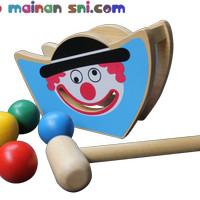 Mainan Kayu Edukatif Badut Juling untuk Anak Usia 3-4 Tahun