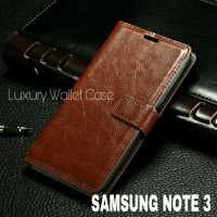 Luxury Wallet Case For Samsung Galaxy Note 3 / Flip Cover Leather Case