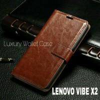 Luxury Wallet Case For Lenovo Vibe X2 / Flip Cover Leather Case Lenovo