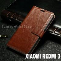 Luxury Wallet Case For Xiaomi Redmi 3 / Flip Cover Leather Case