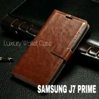 Luxury Wallet Case For Samsung J7 Prime / Flip Cover Leather Case