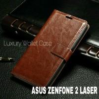 """Luxury Wallet Case For Asus Zenfone 2 Laser 5.5"""" (Zc550kl) Flipcase"""