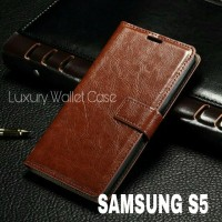 Luxury Wallet Case For Samsung S5 / Flip Cover Leather Case Samsung S5