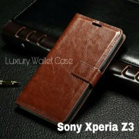Luxury Wallet Case For Sony Xperia Z3 / Flip Cover Leather Xperia Z3