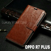 Luxury Wallet Case For Oppo R7 Plus / Flip Cover Leather Case For Oppo