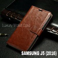 Luxury Wallet Case For Samsung J5 (2016) / Flip Cover Leather Case