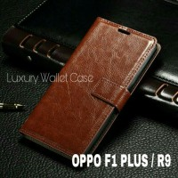 Luxury Wallet Case For Oppo F1 Plus / Oppo R9 Flip Cover Leather Case