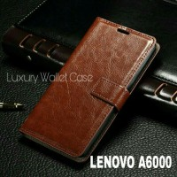 Luxury Wallet Case For Lenovo A6000 / Flip Cover Leather Case