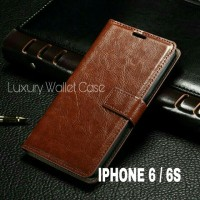 Luxury Wallet Case For Iphone 6 / Iphone 6S Flip Cover Leather Case