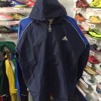 Jaket parasut untuk lari olahrga running navy biru dongker allsize XL