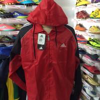 Jaket parasut untuk lari olahraga running merah allsize fit to XL red