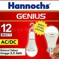 Lampu Led Hannochs Genius 12w AC DC emergency magic sentuh tangan