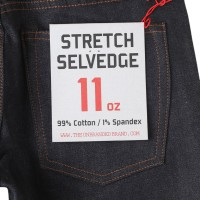 The UNBRANDED BRAND UB222 TAPERED FIT 11OZ STRETCH SELVEDGE DENIM