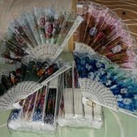 souvenir pernikahan kipas spanyol putih polos