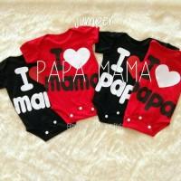 Jumper bayi lucu / jumper bayi murah / jumper i love papa mama
