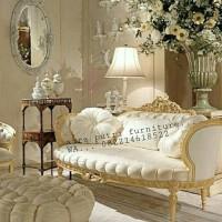 Sofa bulat gold