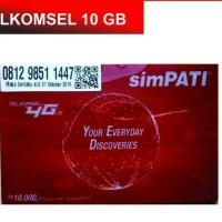 Jual Kartu Perdana Simpati Internet 10GB Kuota 10 GB Telkomsel 4G Murah
