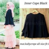 inner cape black blouse - tunik - top - atasan wanita - baju murah