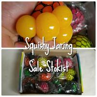 CHANGE COLOR Mainan squishy ball bola kado toy jaring buah anggur