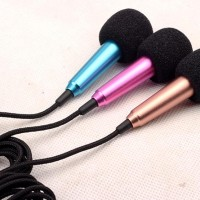 Mini Microphone Wired Sing / KARAOKE Mic UNTUK Smule HP Android iOS PC