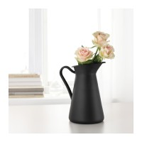 Ikea Sockerart ~ Vas Bunga Hitam Baja 22Cm | Steel Black Vase /Pitcher