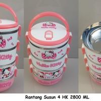 Jual RANTANG HELLO KITTY / RANTANG SUSUN / RANTANG SUSUN 4 HK 2800 ML Murah