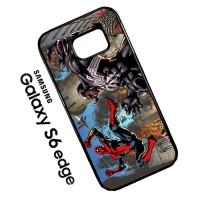 Spiderman vs Venom Wallpaper HD X0780 Samsung Galaxy S6 Edge Casing Cu