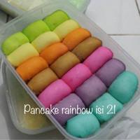 Pancake rainbow isi 21 VIA GOJEK