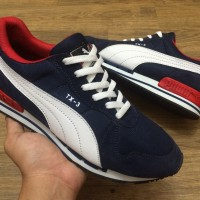 Sepatu Puma Runner TX-3 TX3 TX 3 Modern Tech Navy Blue White Biru Man