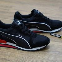 Sepatu Puma Runner TX-3 TX3 TX 3 Modern Tech Black White Hitam Man