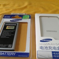 Extra Battery Kit / Baterai Batre Battery Batere + Desktop Charger Samsung Galaxy S5 Sv I9600 Original 100% Sein