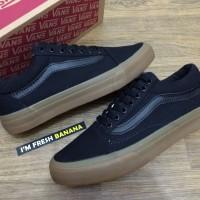 Sepatu Vans Old Skool Full Black ( Sol Gum ) Hitam Premium oldskool