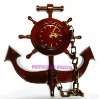 Hiasan Kayu Jam Dinding Klasik Vintage Jangkar Penambat Kapal