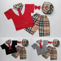 harga baju celana topi dasi-baju bayi anak laki-laki setelan burberry Tokopedia.com