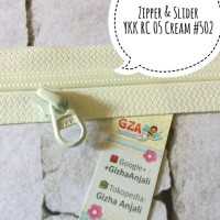 harga Restleting Chain Zipper Plus Slider Ykk Rc 05 Rel Plastik Cream 502 Tokopedia.com