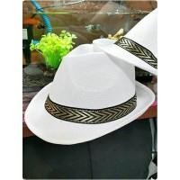 topi fedora jazz dewasa putih hitam