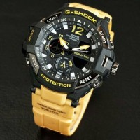 JAM TANGAN SPORT PRIA G-SHOCK KW SUPER DOUBLE TIME RUBBER YELAW