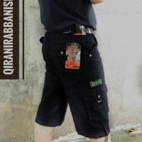 Jual Celana Cargo Pendek Warna Hitam big Size 36 37 38 39 40 41 42 43 44 Murah